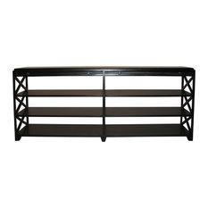 Noir console tables houzz - Table console noire ...