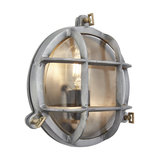 Bulkhead Outdoor & Bathroom Round Light - 8 Inch - Gunmetal, Back Wiring