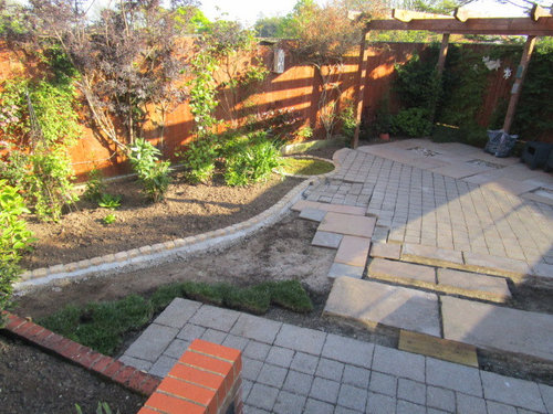 The Cobble Area Is Too Large Running Down The Middle Of The Garden To  Remove, And I Do Like Different Surfaces But Its How They Are Going To  Merge Together.