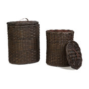 Oval Wicker Hamper, Extra Large