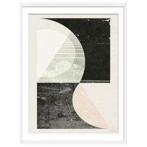 """""""Outside In"""" Abstract Art Print, White Framed, 40x50 cm"""