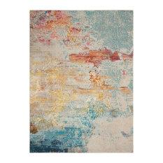 "Nourison Celestial Contemporary Area Rug, Multicolor, 5'3""x7'3"""