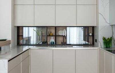 Кухня недели: с зеркальным шкафом вместо фартука
