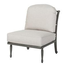 Bel Air Armless Lounge Chair, Shade/Cast Silver
