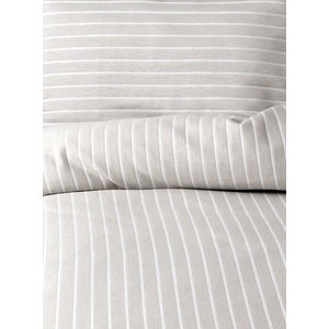 Stripe Duvet Cover Set, Silver, Super King 260x220 cm