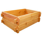 """Timberlane Gardens - Raised Bed Kit Double Deep, Two 2x3, Western Red Cedar - Raised garden bed kit dimensions: 2 feet wide x 3 feet long (6 inches deep) and 2 feet wide x 3 feet long (6 inches deep). Depth is 12 inches when stacked. 5/8"""" thick."""