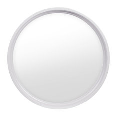 Rambler 4 Season Poly White Round Window, Clear Insulated Glass, White, Low-E In