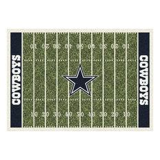 """Dallas Cowboys NFL Football Field Rug, 3'10""""x5'4"""""""