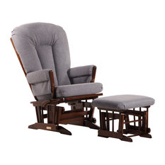 Dutailier Group - Dutailier Multiposition-Recline Colonial Frame Glider/Nursing Ottoman - Gliders