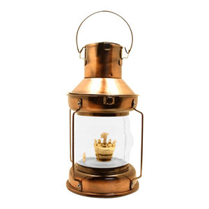 "9.5"" Copper Plated Anchor Oil Lantern"