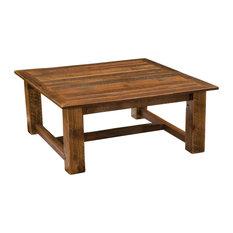 Barnwood Open Square Coffee Table 34-inchx34-inchand 42-inchx42-inch 34-inchx34-inch
