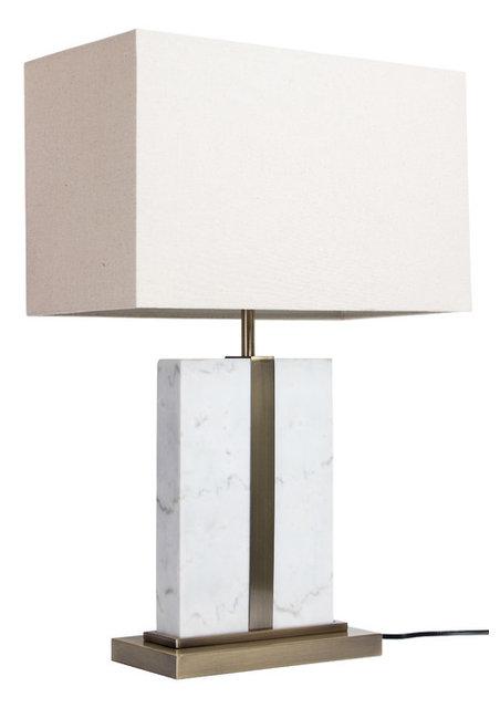 Carrara Marble Table Lamp, White, Modern, White Marble