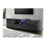 Prisma (grey) 2 door 1 drawer TV unit
