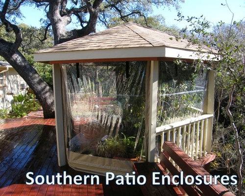 Clear Vinyl Patio Enclosure Weather Curtains   Carpenter   Austin TX  (gazebo)