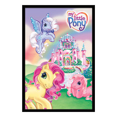 My Little Pony Castle Poster, Black Framed Version