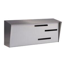 modern mailbox mid century modern mailbox stainless and white mailboxes - Modern Mailboxes
