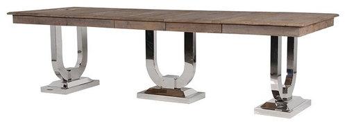 ラスティックパイントップ エクステンディングダイニングテーブル - ダイニングテーブル