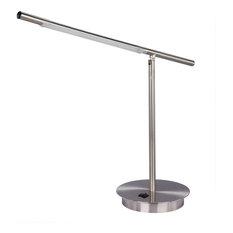 Fangio Lighting Metal Table Lamp, Satin Chrome