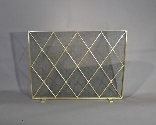 ... mid century modern fireplace screen ... - Modern Fireplace Screens - Fireplace Ideas