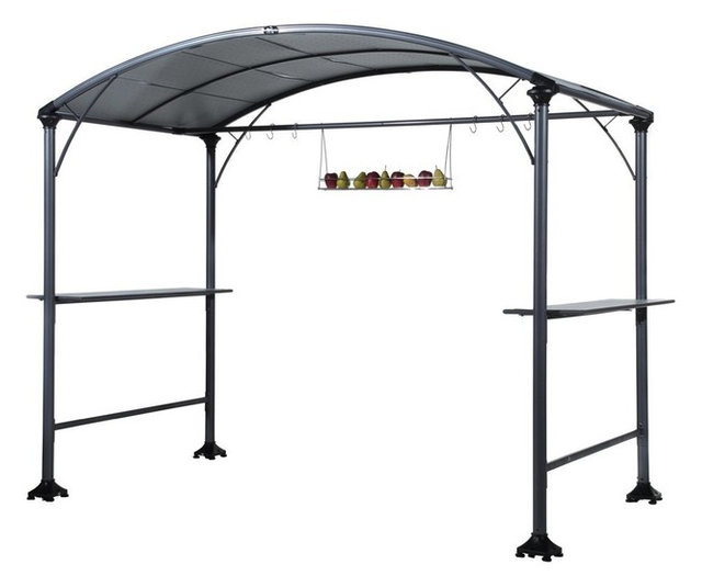 Abba Patio 9u0027x5u0027 Outdoor Backyard Bbq Grill Gazebo With Canopy, ...