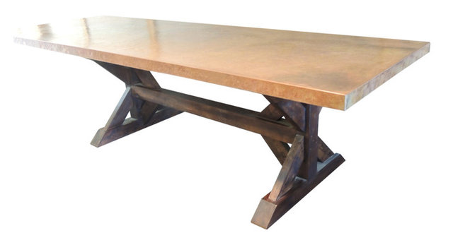 kershaw trestle table - traditional - dining tables -sds designs usa