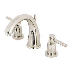 Kingston Brass Widespread Bathroom Faucet With Brass Pop-Up, Polished Nickel