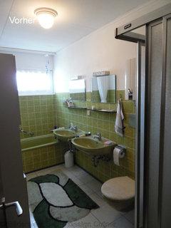 Badezimmer komplett Renovierung vorher / nachher