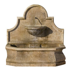 Andalusia Outdoor Water Fountain, Aged Limestone