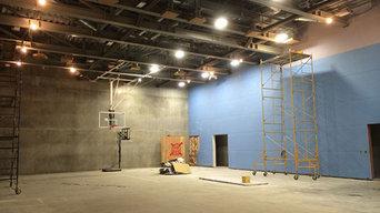 Basketball Court Lighting Installation
