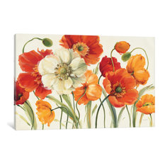 """Poppies Melody I Gallery"" by Lisa Audit, 40x26x1.5"""