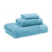 Flossy 3-Piece Turkish Cotton Towel Set, Aqua