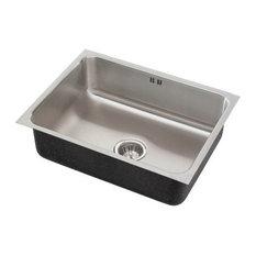 just sinks   just single bowl undermount 18x30x10 5 outdoor sink with integra flow 18 18 inch kitchen sinks   houzz  rh   houzz com
