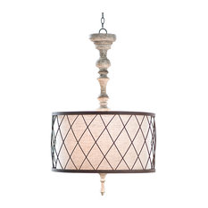 french country lighting. Flaubert French Country Gesso Spindle Pendant - Lighting