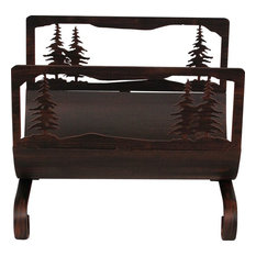 Feather Tree Wood Holder, Burnt Sienna