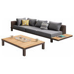 Higold - Higold - Polo 3 Piece Corner Sofas and Coffee Table, Contemporary Furniture - Polo is a outdoor sectional that can be assembled into different configurations and can be available in various color options. These corner sofas are featuring a stylish combination of teak powder coated aluminium and quick-dry foam cushions for comfort. It raises the bar on sophistication for those basking in the pleasure of outdoor dining.