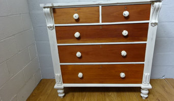 upcycled 2 over 3 Mahogany chest of drawers