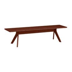 "Audrey 60"" Bench in Cherry by Copeland Furniture, Cognac Cherry"