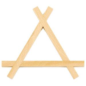 Zas Wooden Trivet, Triangle
