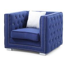 Chair, Blue Velvet