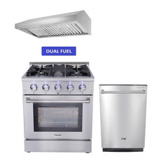 "30"" Dual Fuel Range Thor Kitchen 3-PKG Bundle, Natural Gas H6"