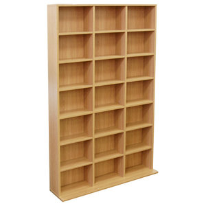 Pigeon Hole 588-CD/378-DVD Media Shelf Unit, Beech