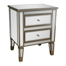 GDFStudio - Graham Mirror 2-Drawer Nightstand - Nightstands and Bedside  Tables