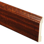 "Inteplast Building Products - Polystyrene Base Moulding, Set of 5, 3/8""x3-3/16""x96 "", Mahogany - Inteplast Woodgrain Mouldings are the ideal way for you to add style and beauty to your home. Our mouldings are lightweight and come prefinished making them an easy weekend project. Inteplast Woodgrain Mouldings feature a rich wood grain texture with colors that give the natural appearance of expensive, hand-finished mouldings without the hassle of labor-intensive finishing processes making them the perfect accent for your room."
