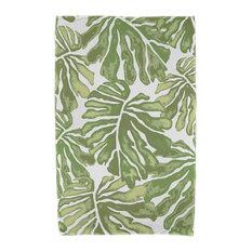 "30x60"" Palm Leaves, Floral Print Beach Towel, Green"