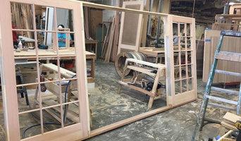 Interior Doors-      Walnut Flush w/Metal Inlay Steel / Aluminum + Pivot Custom