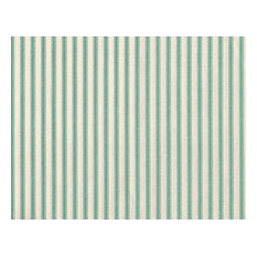 "84"" Shower Curtain, Lined, Pool Blue-Green Ticking Stripe"