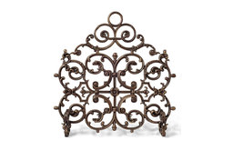 Classic One Panel Cast Iron Fireplace Screen with Arch
