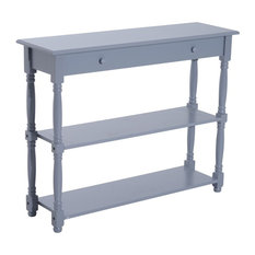 Captivating Anzy   Elegant 40u201d Wood Entryway Console Table, Gray   Console Tables