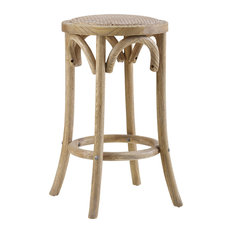 Rae Rattan Seat Backless Stool Counter Height