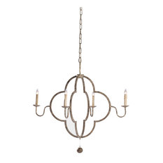Gabby Lewis 4 Light Chipped Gold Chandelier